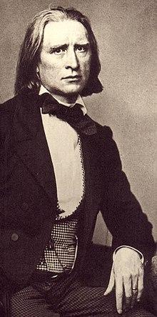 Franz Liszt mit 46 Jahren,Fotografie von Franz Hanfstaengl (Quelle: Wikimedia)