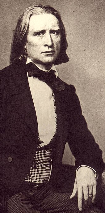 Ferenc (Franz) Liszt, one of the greatest pianists of all time; well-known composer and conductor Liszt 1858.jpg