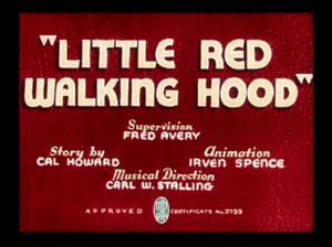 Little Red Walking Hood - Image: Little Red Walking Hood title card