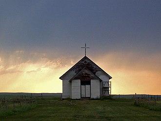 Rural dean - A rural church building on the western prairie of the United States