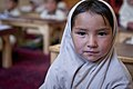 Little girl listens to the lessons during a class in Bamyan, Afghanistan - June 2012.jpg