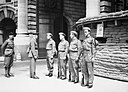 Local Defence Volunteers (LDV) being inspected by senior officers at their post in Whitehall, London, 21 June 1940. H1896.jpg