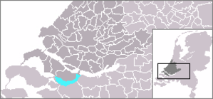 Volkerak - Volkerak highlighted in cyan.