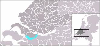 Volkerak - Volkerak highlighted in cyan.