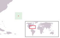 Location of Bermuda off the coast of America