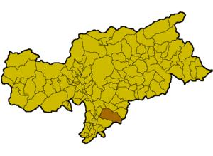 Deutschnofen - Location of Deutschnofen within the Province of Bolzano-Bozen