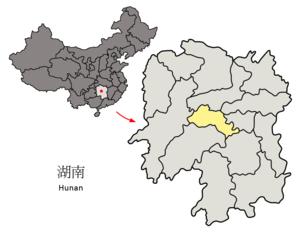 Loudi - Image: Location of Loudi Prefecture within Hunan (China)