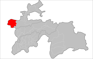 Location of Panjakent District in Tajikistan