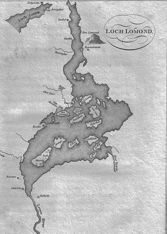 Loch Lomond - Map of the loch c. 1800