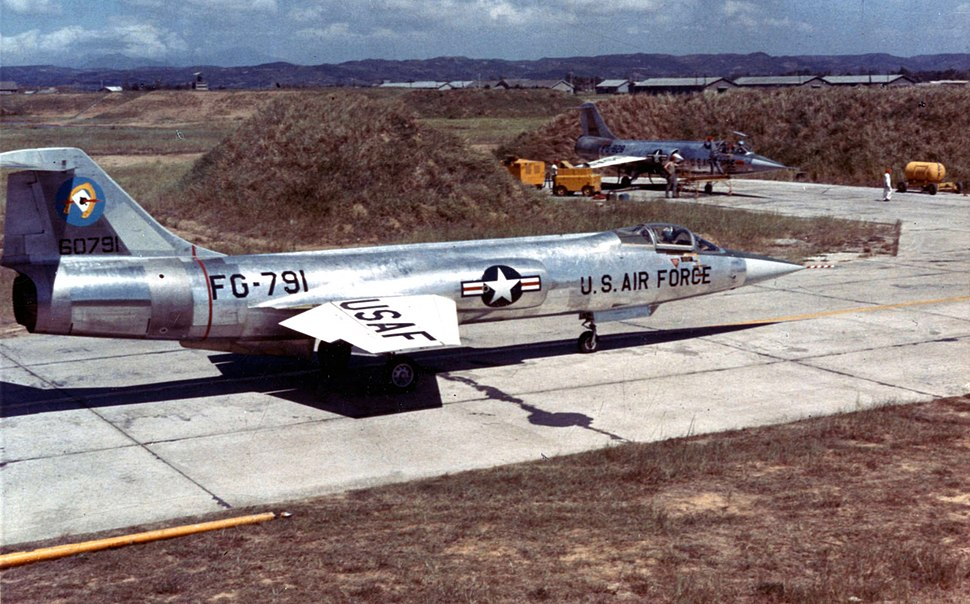 Lockheed F-104A of the 83rd Fighter Interceptor Squadron at Taoyuan Air Base, Taiwan, on Sept. 15, 1958, during the Quemoy Crisis - Operation Jonah Able