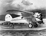 Lockheed Vega cn 122 NR105W -Winnie Mae- 1935 (mfr via RJF) (18327531806).jpg
