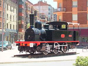 Locomotive 030-219 of Renfe in Miranda de Ebro