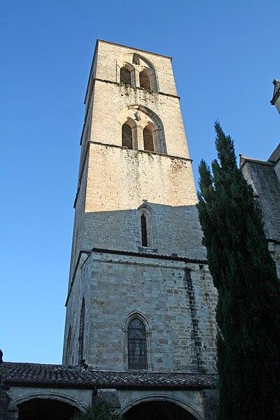 Lodève (Hérault) - clocher de la cathédrale.