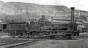 Swiss Northern Railway - Spanisch-Brötli-Bahn locomotive in 1867