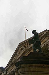 London - Statue of James Henry Greathead 1994 by James Butler - Royal Exchange.jpg