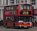London Central bus Volvo B7TL Plaxton President, Vauxhall Bridge Road, route 36, 28 April 2010.jpg