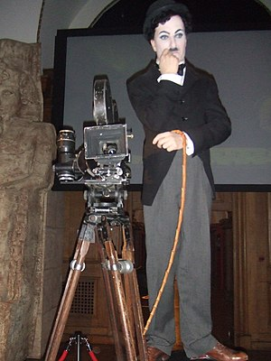 London Film Museum - A mannequin of Charlie Chaplin at the London Film Museum