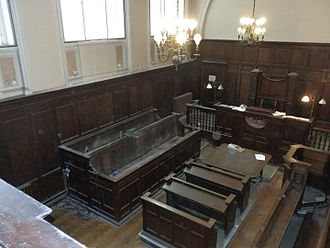 London Road Fire Station, Manchester - The station's coroner's court