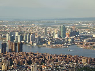 Long Island City - Long Island City viewed from One World Observatory in 2017