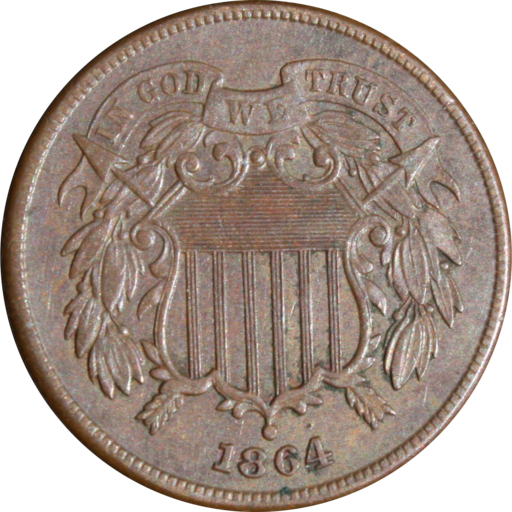 Longacre two cents obverse