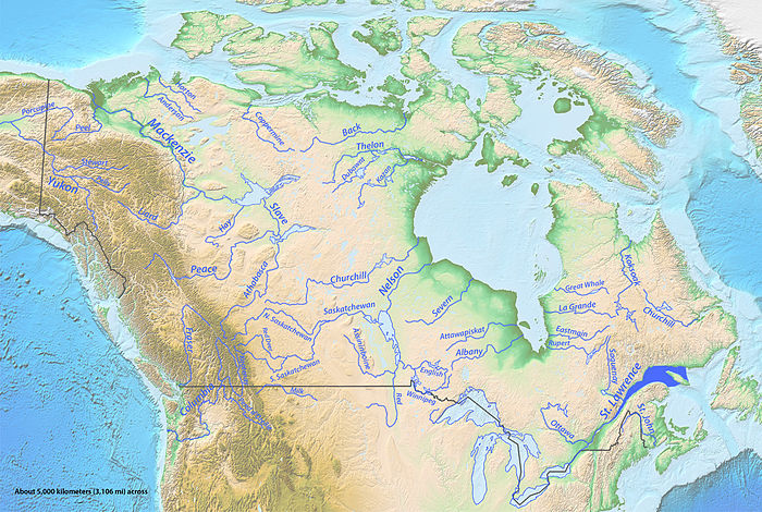 river map with canada - photo #6