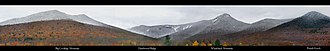 White Mountains (New Hampshire) - Image: Loon Panorama annotated