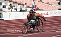 Louise Sauvage on the track at the 1992 Paralympic Games.jpg
