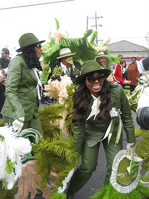 Second line (parades) - Image: Low 9In The 8th Greengals