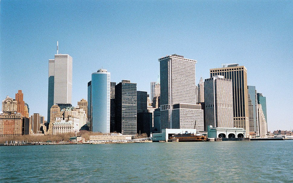 Lower Manhattan Skyline March 2001