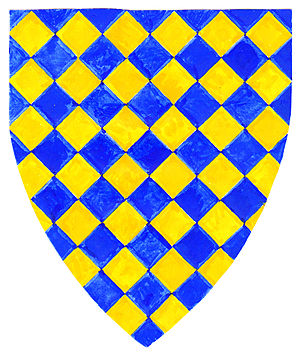 Sherfield on Loddon - Armorials of Warblington: Lozengy or and azure. These arms were the subject of a famous legal dispute in 1347 with Theobald Gorges, see Warbelton v. Gorges