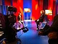 Luca Bassanese negli studi di Rai News 24 intervistato da Patrizia Morgani.JPG