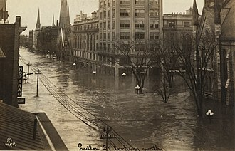 Great Flood of 1913 - Ludlow Street in Dayton, Ohio