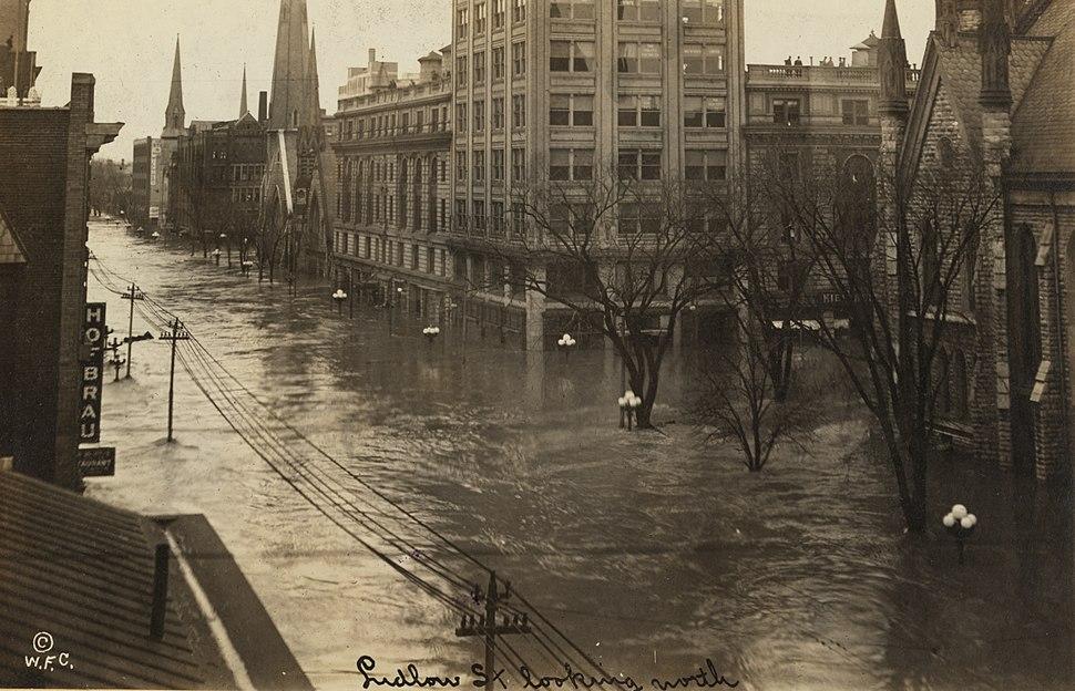 Ludlow Street - North - Dayton Ohio great flood of 1913