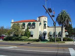Lynn Haven, Florida - City Hall as seen from Florida State Road 77