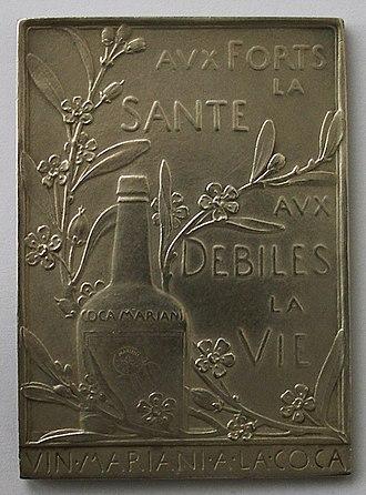 Coca wine - Image: Médaille Coca Mariani revers O.Roty