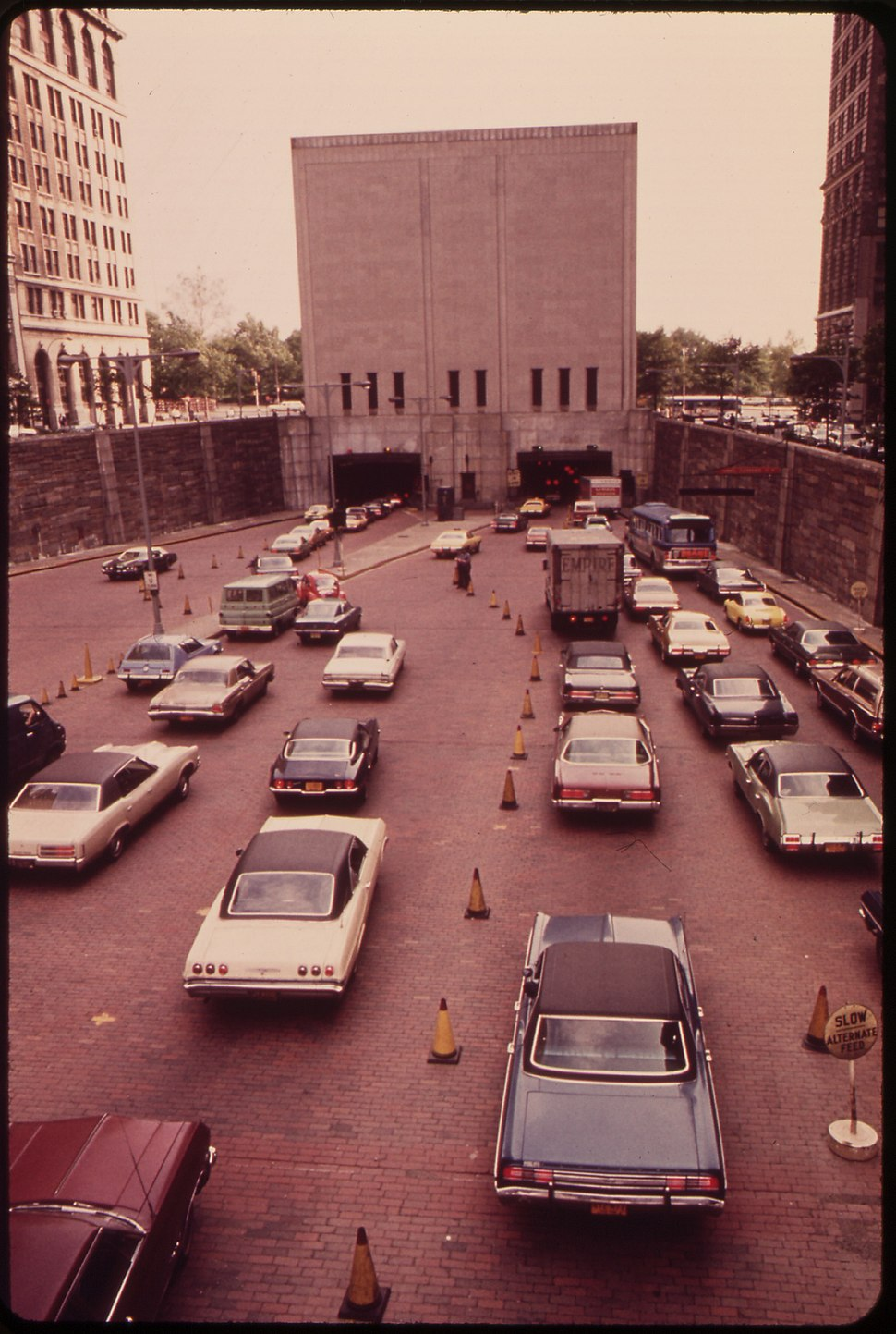 MANHATTAN ENTRANCE TO THE BROOKLYN-BATTERY TUNNEL - NARA - 549920
