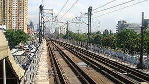 Kamuning MRT station - Image: MRT 3 Tracks Kamuning 1