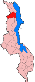 Location of Rumphi District in Malawi