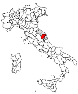 Location of Province of Macerata