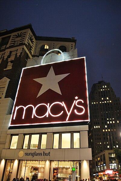 File:Macy's advertising on Million Dollar Corner Sunglass Hut 2011.jpg