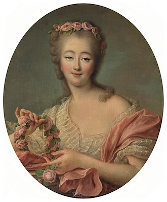 Louis XV of France - Madame du Barry, by François-Hubert Drouais (c. 1770).