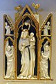 Madonna and Child with angels, triptych, reliefs from France, perhaps Paris, 1325-1350 AD, mounts and ornaments from Rome, mid 1600s, ivory, painted and gilt wood - Vatican Museums - DSC00712.jpg