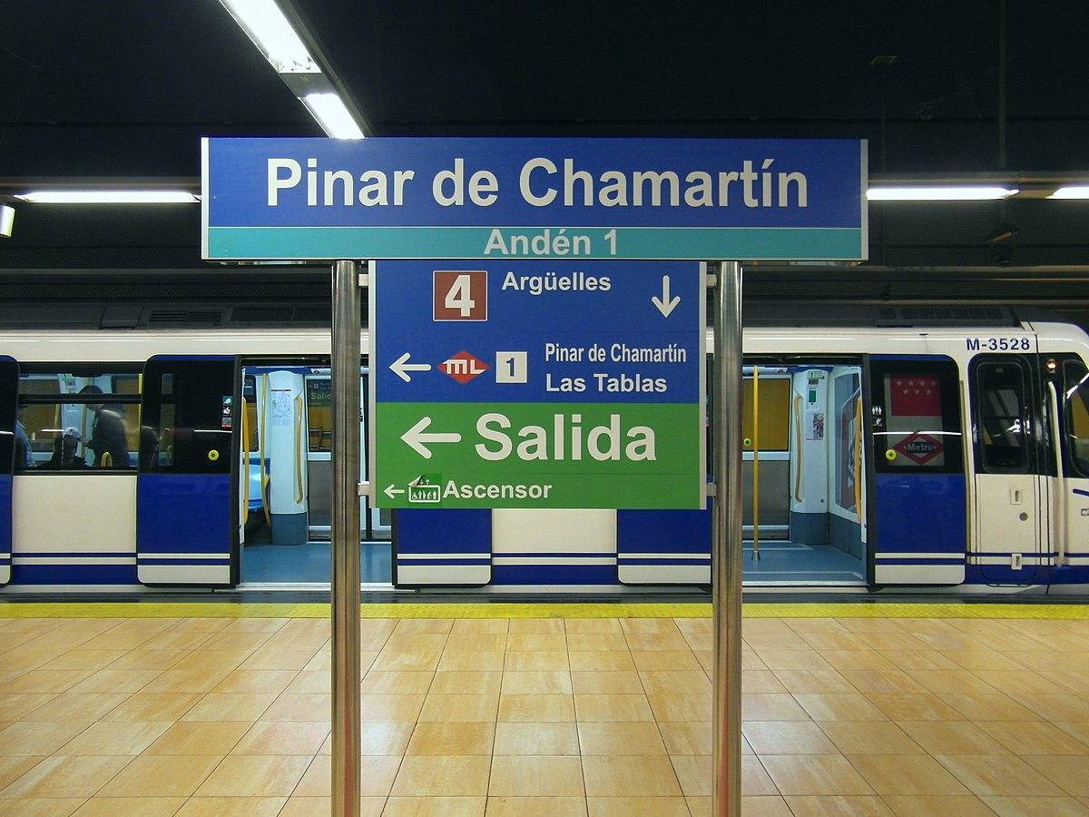 Estacin de Pinar de Chamartn  Wikipedia la enciclopedia libre
