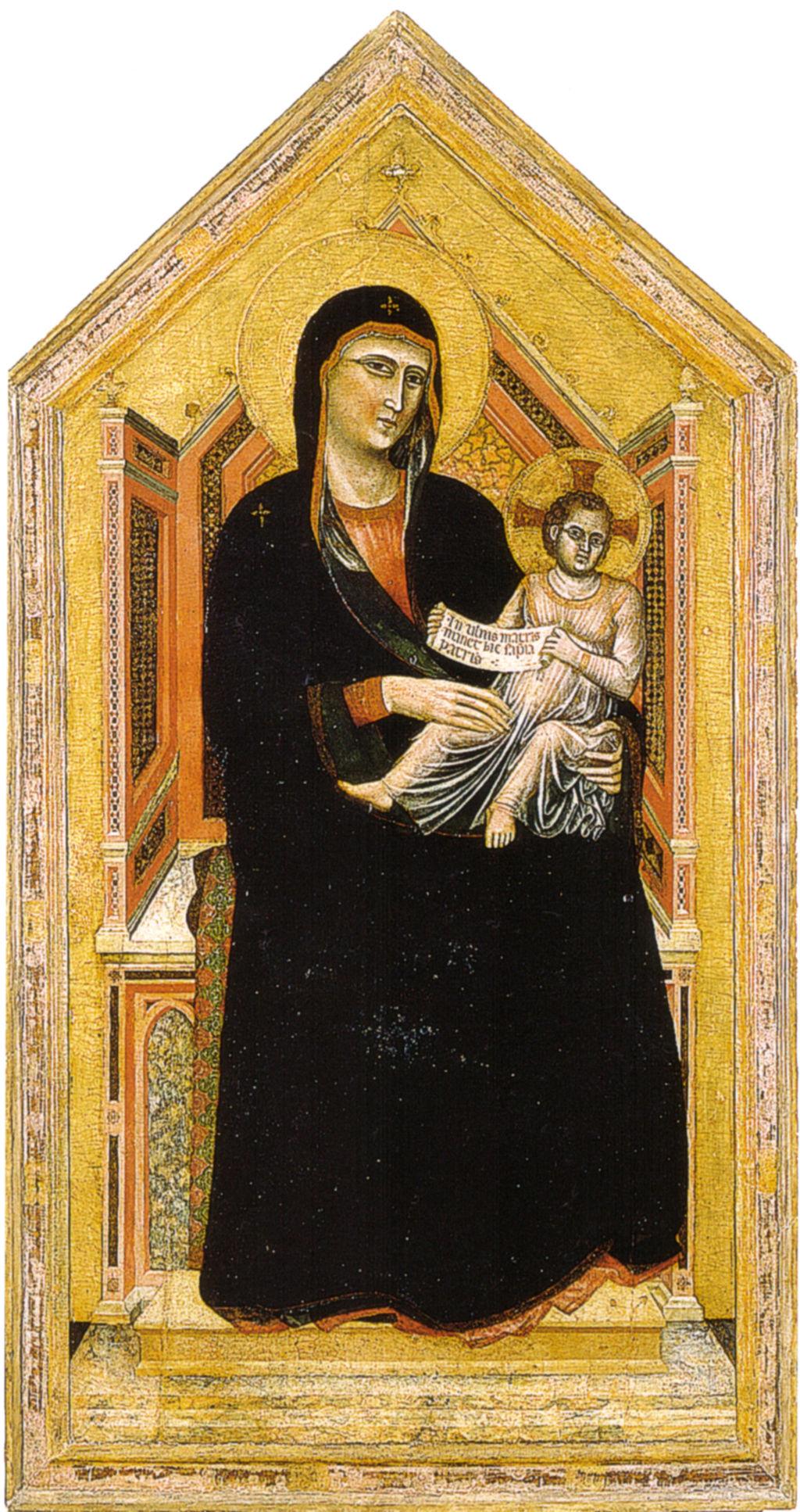 Master of Saint Cecilia, Madonna in trono, 1320-1325 circa, pittura, Galleria dell'Accademia