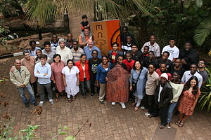 Usama Mukwaya - Usama standing in-front, first from right with fellow 2011 Maisha participants and Mentors
