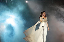 Majida El Roumi on stage in July, 2009.jpg