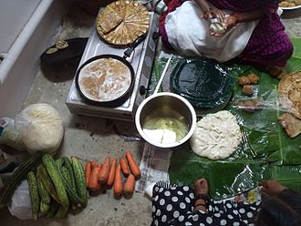 Puran poli - The preparation of holige