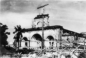 Manila Cathedral - The ruins of Manila Cathedral after the bombing