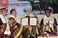 Manmohan Singh being conferred Honorary Doctorate Degree by the Governor of Uttarakhand, Smt. Margaret Alva, at the convocation ceremony of Govind Ballabh Pant University of Agriculture and Technology, in Pantnagar.jpg