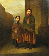 Manner of Eastman Johnson - A Portrait of a Mother and Daughter.jpg